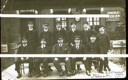 SAINT VALERY EN CAUX 1915 CP PHOTO  CHEFS DE GARES ( Traits Anti Copi - Saint Valery En Caux