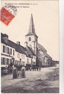 62 BLANGY SUR TERNOISE - Rue Principale Eglise Café Tabac Bottin Lefrancq Poussette Enfant - CPA  9x14 N/B TBE - Altri Comuni