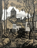 Dép. De La VIENNE - OYRE - BOIS ORIGINAUX GRAVES Par JEHAN BERJONNEAU EN 1932 - Engravings