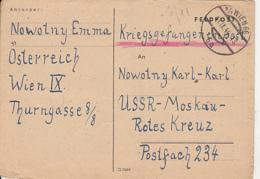 PRISONER OF WAR CORRESPONDENCE, WW2, SENT TO CAMP 234 IN RUSSIA, CENSORED 496, POSTCARD, 1946, AUSTRIA - 1945-60 Briefe U. Dokumente