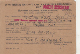 PRISONER OF WAR CORRESPONDENCE, WW2, SENT TO CAMP 234 IN RUSSIA, POSTCARD, 1946, AUSTRIA - 1945-60 Briefe U. Dokumente