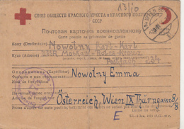 PRISONER OF WAR CORRESPONDENCE, WW2, SENT TO CAMP 234 IN RUSSIA, RED CROSS AND RED CRESCENT POSTCARD, 1946, AUSTRIA - 1945-.... 2ème République