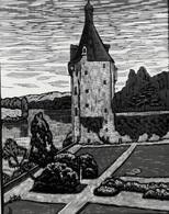 Dép. De La VIENNE - TOUFFOU - BOIS ORIGINAUX GRAVES Par JEHAN BERJONNEAU EN 1932 - Engravings