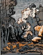 Dép. De La VIENNE - PASSELOURDIN  - BOIS ORIGINAUX GRAVES Par JEHAN BERJONNEAU EN 1932 - Engravings