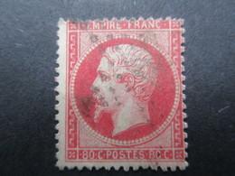 N°  24A Y & T -- TIMBRE  Napoleon III - 80 C Rose -- FRANCE -  Oblit Pointillé -  TBE - 1862 Napoléon III