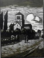 Dép. De La VIENNE - L'EGLISE DE SAINT-PAIXENT - BOIS ORIGINAUX GRAVES Par JEHAN BERJONNEAU EN 1932 - Engravings