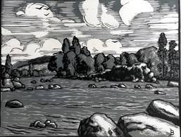 Dép. De La VIENNE - MOUSSAC-SUR-VIENNE  - BOIS ORIGINAUX GRAVES Par JEHAN BERJONNEAU EN 1932MOU - Engravings