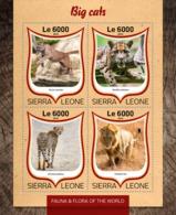 Sierra Leone 2016 Fauna  Big  Cats  , Lion ,cheeath - Sierra Leone (1961-...)