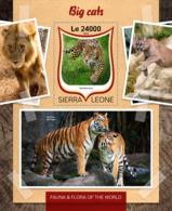 Sierra Leone 2016 Fauna  Big  Cats  , Tiger - Sierra Leone (1961-...)