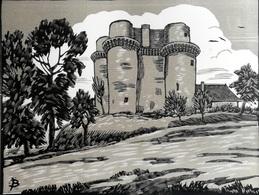 Dép. De La VIENNE - QUEAUX  - BOIS ORIGINAUX GRAVES Par JEHAN BERJONNEAU EN 1932MOU - Engravings