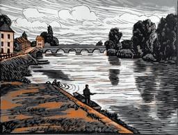 Dép. De La VIENNE - CHATELLERAULT  - BOIS ORIGINAUX GRAVES Par JEHAN BERJONNEAU EN 1932 - Engravings
