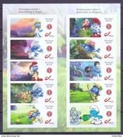 Belgien**Die SCHLUEMPFE-Heftchen 10 DUO-Marken-COMICS-CARTOONS-Bande Dessinée-2018- - Comics