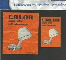 CALOR KOFFER HAARDROGER CALOR CASQUE VALISE HAIR DRYER FÖN SÉCHOIR À CHEVEUX étiquettes D'allumettes - Boites D'allumettes - Etiquettes