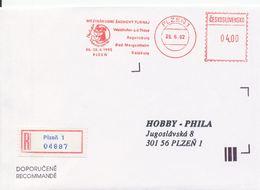 J0887 - Cecoslovacchia (1992) Plzen 1: Torneo Internazionale Di Scacchi Mephisto GRAND PRIX '92 R-lettera - Scacchi