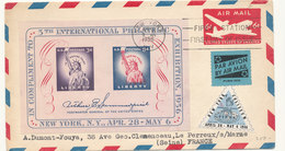 1 LETTRE NEW YORK 1956 - United States