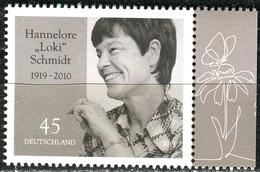 BRD - Mi 3448 - ** Postfrisch (M) - 45C     Hannelore Schmidt, Ausgabe 01.03.2019 - BRD