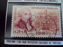 """à Partir De 1960-timbre Oblitéré N°  1297   """"  Physicien, Coulomb  """"     2 Euros - France"""