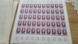 LOT 443863 TIMBRE DE FRANCE NEUF** LUXE N°1595 FEUILLE COMPLETE - Feuilles Complètes