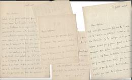 TAXILE DELORD 1815 Avignon 1877 , Député Du Vaucluse 5 Lettres Autographe 14 P. Au Docteur Bordone - Autographs