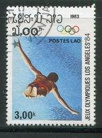LAOS- Y&T N°451- Oblitéré - Kunst- Und Turmspringen