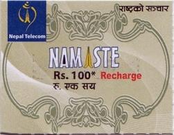 GSM MOBILE Rs.100 RECHARGE PREPAID USED MINI CARD NEPAL TELECOM NEPAL - Nepal