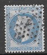 Francia 1863-69 Effigie Di Napoleone III Con Corona Di Alloro 20 C. Azzurro (Tipo II) Usato - 1863-1870 Napoleone III Con Gli Allori