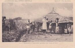 CARTOLINA - POSTCARD - AFRICA - IL MISSIONARIO IN ESCURSIONE APOSTOLICA CON L' ASINO DI FERRO - Cartoline