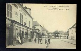 CPA 95 - Arnouville Les Gonnesse - Grande Rue Et Place - Maison Cousin Tabac & Vins - Animée 1923 - Arnouville Les Gonesses