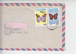 UGANDA  1992 - Farfalle - Uganda (1962-...)