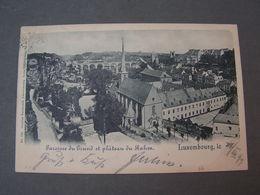 Luxemburg Karte 1899 - Luxemburg - Stadt
