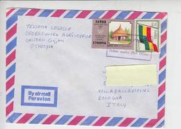 ETIOPIA  1993 - Yvert 1291-1330 - Architettura - Bandiera - Etiopia