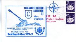 """(BWH1) BRD Cachetumschlag BW HEER """"FELDARTILLERIEBATAILLON 51"""" SSt 16.9.1979 IDAR-OBERSTEIN - [7] République Fédérale"""