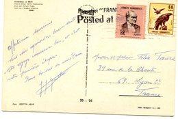Cachet Paquebot France Posted At Sea Sur Carte Turque D'Izmir - Marcophilie (Lettres)