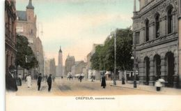 Crefeld Rheinstrasse Street Promenade Postcard - Germany