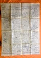 GROTE STAFKAART 1/10.000 BERLAAR Meting1971 NIJLEN BOUWEL HERENTHOUT BEVEL ITEGEM BERNUM MELKOUWEN UILENBERG DORSEL S391 - Berlaar