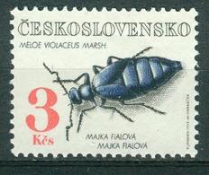 Bm Czechoslovakia 1992 MiNr 3124 MNH | Beetles, Meloe Vialaceus - Checoslovaquia
