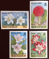 Montserrat 1989 Easter Lilies Flowers MNH - Plants