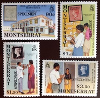 Montserrat 1990 Penny Black Anniversary Specimen MNH - Montserrat