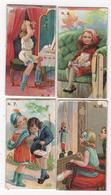 CHROMO Lot De 4 Petites Images Enfants Fillettes Chocolat Et Cacao Talmone ITALIA - Sonstige