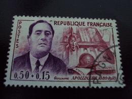 """à Partir De 1960-timbre Oblitéré N°  1300   """" Apollinaire    """"   1.20  Euros   Photo 2 - France"""