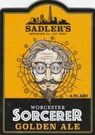 SADLERS BREWERY (STOURBRIDGE, ENGLAND) - WORCESTER SORCERER GOLDEN ALE - PUMP CLIP FRONT - Enseignes