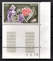 MONACO 1978 N°1152 - NEUF** COIN DE FEUILLE / DATE - Unused Stamps