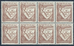 Portugal 1931-38 Portugal Holding Volume Of Lusiadas Block Of 8 MNH - Celebrations
