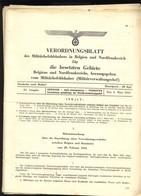 JL 1 2e Guerre 8 X Verordnungsblatt Pour La Belgique Et Les Provinces De Namur/Liège/ Luxembourg - 1939-45