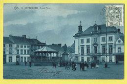 * Zottegem - Sotteghem (Oost Vlaanderen) * (SBP, Nr 10) Grand'Place, Timbre, Belle Animation, Kiosque, Kiosk, TOP - Zottegem