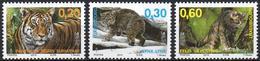 LUXEMBOURG 2013 - 3v- MNH** - Félins Cats Tigres Felines Felinos Tigers Tiger Tigri Sepac Lynx Luchs Lince - Big Cats (cats Of Prey)