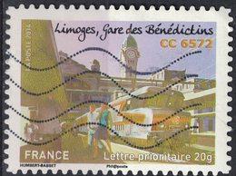 France 2014 Oblitéré Used Trains Limoges Gare Des Bénédictins CC 6572 Y&T 1009 SU - Usati