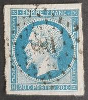 1853 - 1861, Emperor Napoléon Lll, Type L, Bleu Sur Azuré, France, Empire Française - 1853-1860 Napoléon III