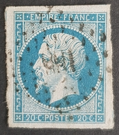 1853 - 1861, Emperor Napoléon Lll, Type L, Bleu Sur Azuré, France, Empire Française - 1853-1860 Napoleon III