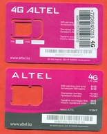 Kazakhstan. Used Plastic Card Without A Sim-card.Phonecards Altel. Two Types Of Cards. - Kazakhstan